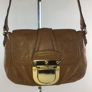Michael Kors Crossbody Clutch Leather, Soft Brown
